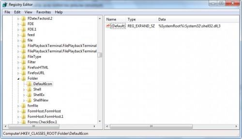 Раздел Folder - описание папки