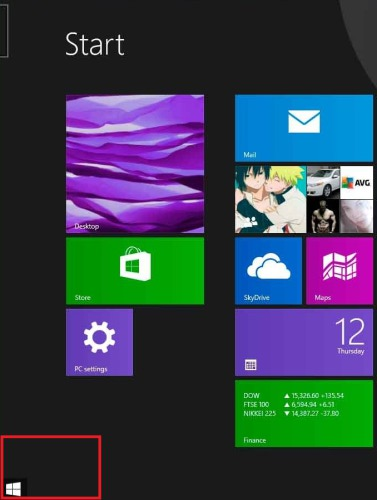 Start Button Tooltip Windows 8.1