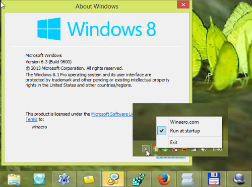 удалить кнопку пуск Windows 8.1