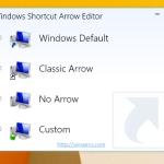 Как удалить стрелку ярлыка в Windows 8.1 или заменить её на свою