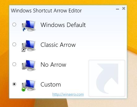 Windows Shortcut Arrow Editor