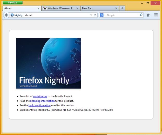 Классическая тема Firefox, отключающая Australis, доступна для загрузки