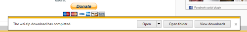 панель уведомлений Internet Explorer