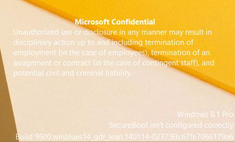 Microsoft Confidential watermark