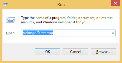Run taskmgr startup