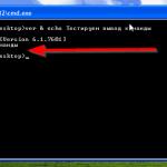 Как убрать пустую строку из вывода команды echo в Windows