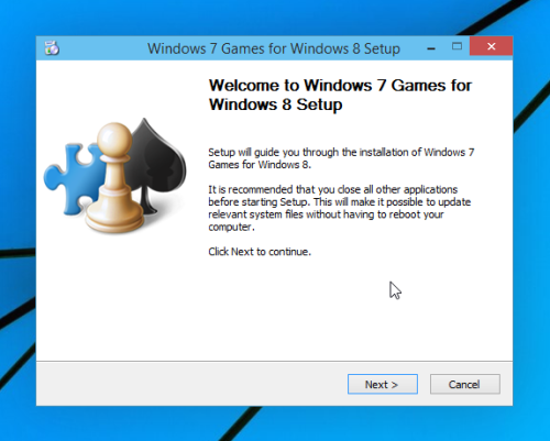 install win7 games in  Windows 10