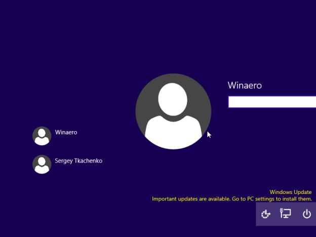 Новый экран входа в Windows 10 build 9926