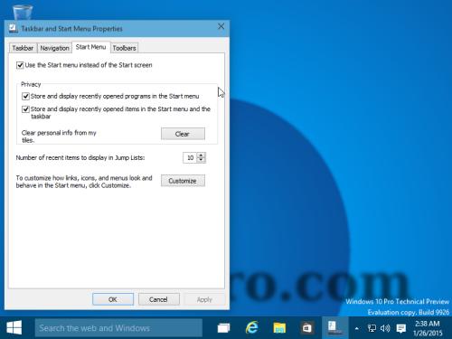 Настройки Windows 10 снова доступны