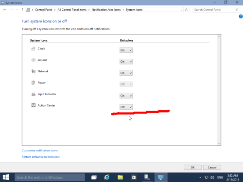 disable-notification-center-windows-10