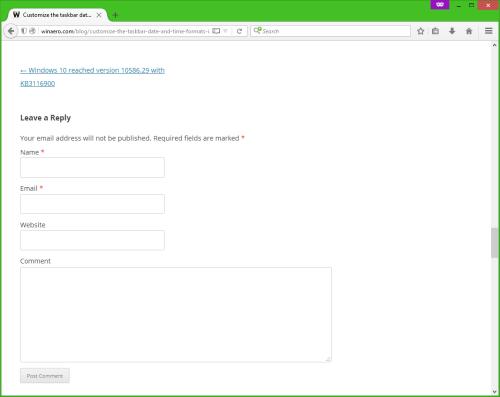 Wordpress 4.4 comments form below