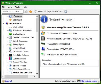 Winaero Tweaker 0.4.0.3 small