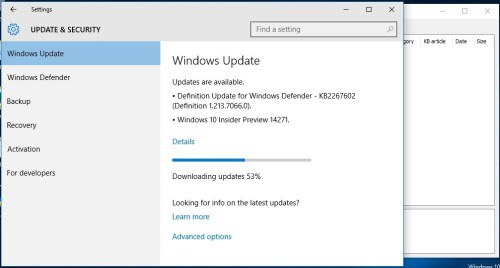 Windows 10 build 14271 download update