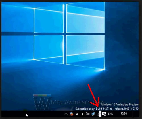 Windows 10 build 14271 messed up systray