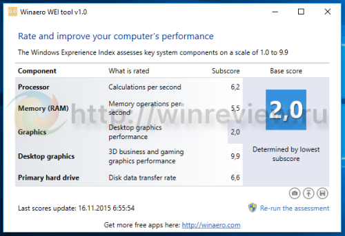 Windows 10 wei tool