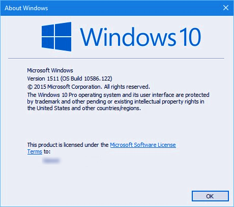 Windows 10 build 10586.122